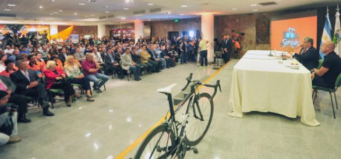 El gobernador presentó el Tour de San Luis 2015 que pasará por Córdoba