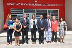 """El director mundial de Scholas Occurrentes visitó la escuela pública bilingüe digital """"Nelson Mandela"""""""