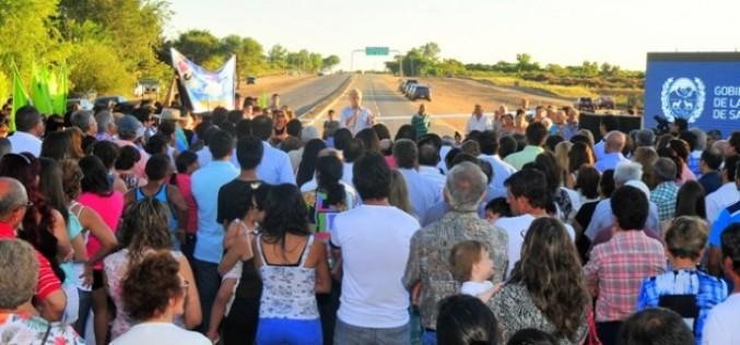 Poggi inauguró el tramo Nogolí – Villa de la Quebrada de la Autopista 25 de Mayo