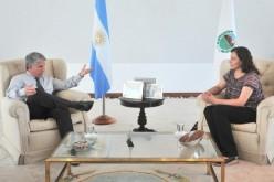 Nancy Albornoz se reunió con el gobernador de la Provincia