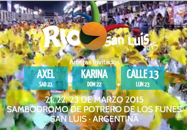 Axel, Karina y Calle13 cerrarán cada una de las noches.