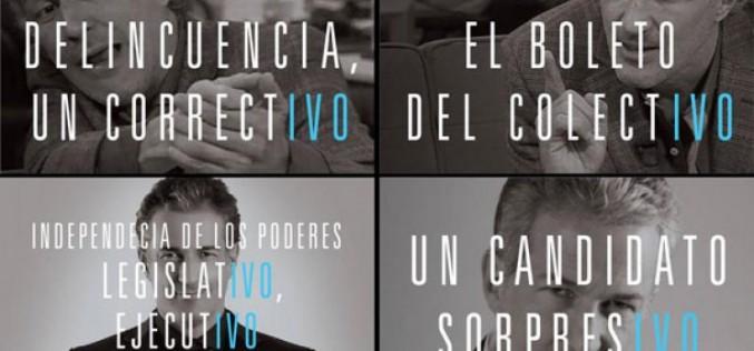 Los curiosos afiches del candidato sorpresIVO