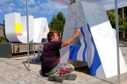 El pintor Milo Lockett en el IV Congreso Internacional del Agua